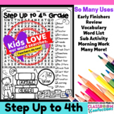 Step Up to 4th Grade Word Search Activity Puzzle