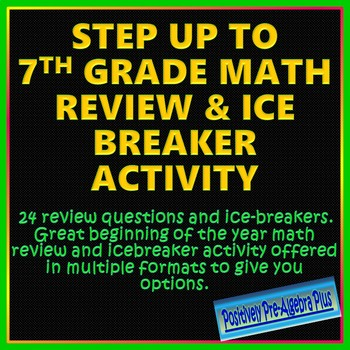 Step Up to 7th Grade Review and Icebreaker Activity