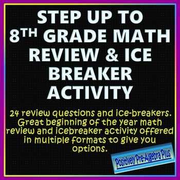Step Up to 8th Grade Icebreaker and Math Review