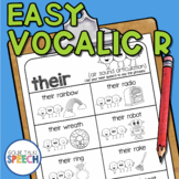 Step Up to Easy Vocalic R Phrases and Sentences | Articulation | Speech Therapy