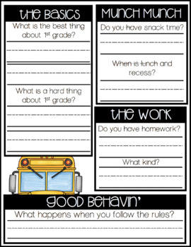 Step Up to First Grade Editable Interview Pack