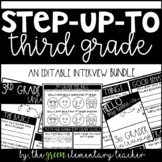 Step Up to Third Grade Editable Interview Pack
