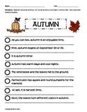 Paragraph Cut & Paste: Autumn