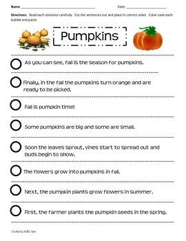 Paragraph Cut & Paste: Pumpkins