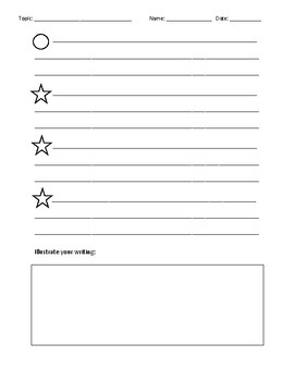 Step Up to Writing Paragraph Graphic Organizer/Template