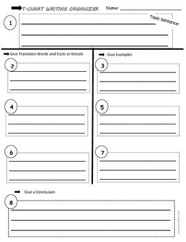 Writing T-Chart/Graphic Organizer