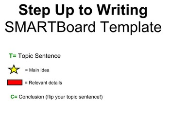 Step Up to Writing Template