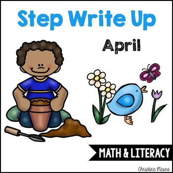 Step Write Up - April Write the Room {Math & Literacy}