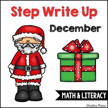 Step Write Up - December Write the Room {Math & Literacy}
