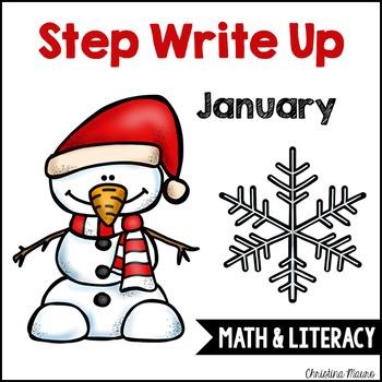 Step Write Up - January Write the Room {Math & Literacy}