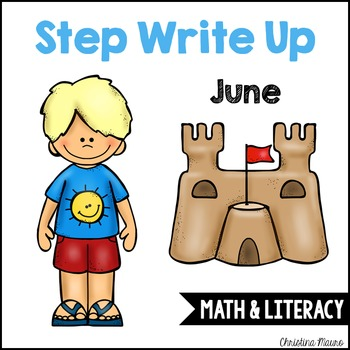 Step Write Up - June Write the Room {Math & Literacy}