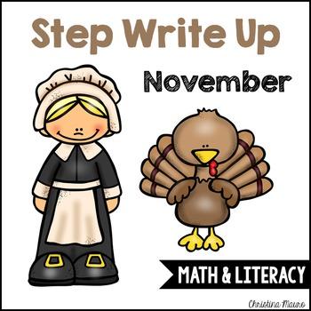 Step Write Up - November Write the Room {Math & Literacy}