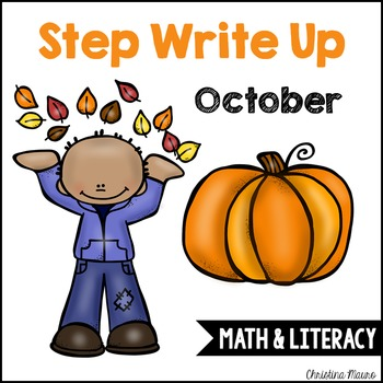 Step Write Up - October Write the Room {Math & Literacy}