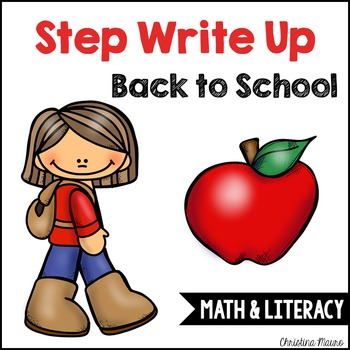 Step Write Up - September Write the Room {Math & Literacy}