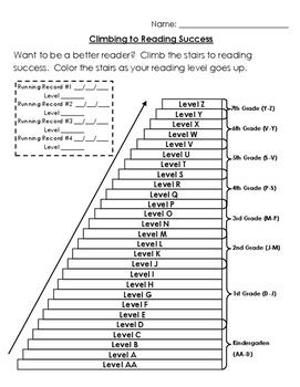 Running Record Recording Chart- Step Your Way to Reading Success