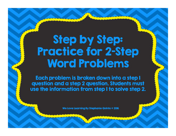 Step by Step: 2-Step Word Problem Practice