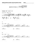 Step by Step Approach To Solving Quadratic Equations Using The Quadratic Formula