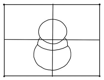 Step by Step Art Lesson, Winter Snowman