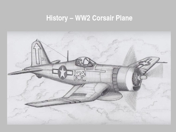 Step by Step Artwork - History WW2 Corsair Fighter Plane