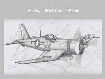 Step by Step Artwork - History WW2 Corsair Fighter Plane