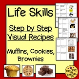 Life Skills - Step by Step Baking Visuals: Muffins, Cookie