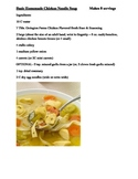 Recipe: Step by Step Basic Homemade Chicken Noodle Soup