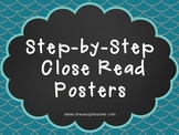 Step-by-Step CLOSE Read Posters for UPPER Elementary FREEBIE