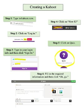 Step by Step Directions for Building a Kahoot