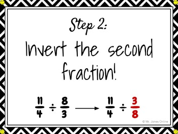 Step-by-Step Dividing Fractions DIY CLIPCHART