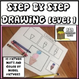 Step by Step Drawing, Easy Drawing Level 1 ABA, Autism