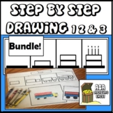 Step by Step Drawing Levels 1 2 & 3 Bundle, Autism, ABA