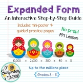 Step-by-Step Expanded Form PPT, Mini-Poster & Guided Practice Pages!
