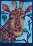 Step by Step Giraffe Guided Drawing that ANYONE Can Teach
