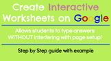 Step by Step Guide: How to Create Interactive Google Worksheets