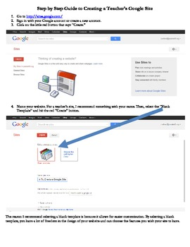 Step by Step Guide to Create a Google Site
