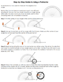 Step by Step Guide to Using a Protractor