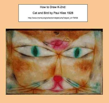 Step by Step How to Draw Cat and Bird by Paul Klee