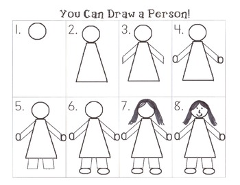 Step By Step How To Draw A Person By The Fireflies