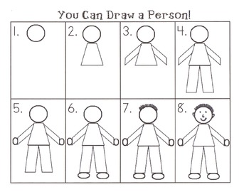Step By Step How To Draw A Person By The Fireflies Tpt