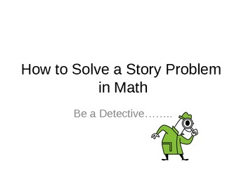 Step-by-Step  How to Solve Math Story Problems Grade 2 - 5