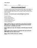 Step by Step How to write an acrostic poem