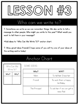 Step by Step: Kindergarten Writing Plans #1