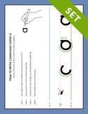 Step-by-Step Letter Formation Poster Set {COLOR}