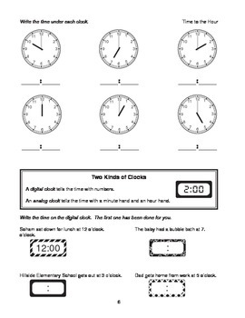 Step-by-Step Math: Telling Time (Part 1 - :00 and :05)
