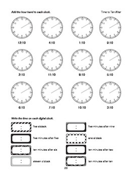 Step-by-Step Math: Telling Time (Part 2 - :10 and :15)