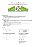 Step by Step Mathematics - Adding and Subtracting Fraction