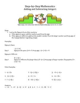 Step by Step Mathematics - Bundle - 10 Lessons