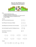 Step by Step Mathematics - Dividing Fractional Numbers
