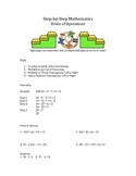 Step by Step Mathematics - Order of Operations