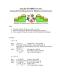 Step by Step Mathematics - Solving One Step Equations by A